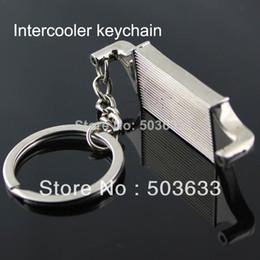 Wholesale Auto Zinc Parts - New Creative Hot Sale Intercooler Auto Parts Accessories Keychain Key Chain Ring Key Fob Keyring 86037