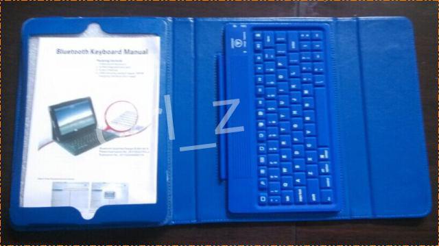 4 renkler Kablosuz Bluetooth Klavye Deri Kılıf Kapak Standı Perakende Paketi ile ipad Hava ipad 5 için Silikon Klavye