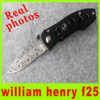 Wholesale Knife Photos - 2014 Real photos William Henry F25 knife 57HRC Blade Aluminium Alloy Handle tactical camping utility hiking knives best gift L