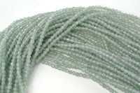Wholesale Jade Stone Faceted Beads - Faceted 2mm Green Aventurine Jade Stone Round Seed Beads fit Fashion Jewelry Necklace Bracelet Bead working
