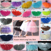 Wholesale Dance Ballet Long Tutus - Wholesale Adult tutus teen tutu skirt women long tutu skirt organza tullel ballet dance skirts by EMS free shipping