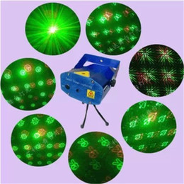Wholesale Green Laser Retail - Newest Laser Lighting 24 Styles 6 in 1 Stage Light Voice Control Stage Retail Box Laser Light Mini Laser Lighting 110V-240V Free Shipping