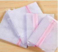 bolsa para sujetadores al por mayor-Nuevo Llega 30 * 40cm Lavadora Ropa interior especializada Bolsa de lavado Bolsa de malla Sujetador Cuidado de lavado Bolsa de lavandería