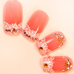 Wholesale Nail Melon - Wholesale-MN-Water melon red fake nails tips for sale,acrylic false nails display,acrylic photo display.4.16974.Free shipping