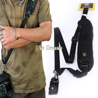 New 2014 Neck Shoulder Strap Camera Single Shoulder Sling Black Belt Strap para SLR DSLR Canon Nikon Sony Câmeras # 010 14825