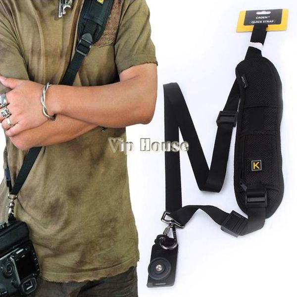 New 2014 Neck Schultergurt Kamera Single Schulter Sling Schwarz Gürtel Strap für SLR DSLR Canon Nikon Sony Kameras # 010 14825