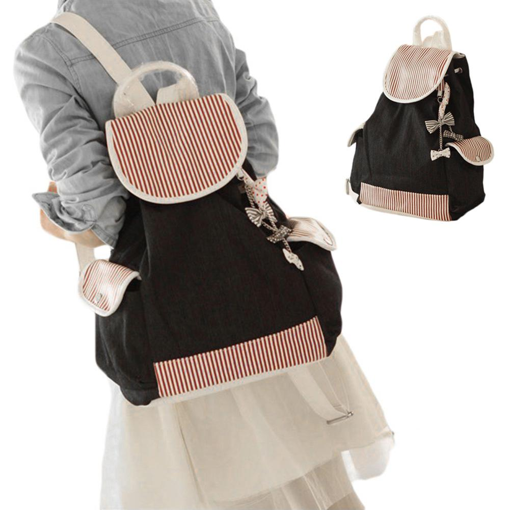 S5Q Canvas Travel Backpack School Bag Satchel Shoulder School Bag ...