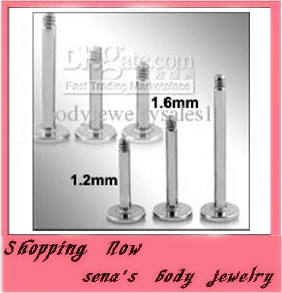 L21,wholesales 300pcs/lot mix 6 8 10mm body jewelry lip piercing labret bar