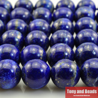 "Wholesale Loose Beads For Sale - Free Shipping Natural Stone Lapis Lazuli Round Loose Beads 15"" Strand 4 6 8 10 12 14MM Pick Size For Jewelry Making No.SAB12 hot sale"