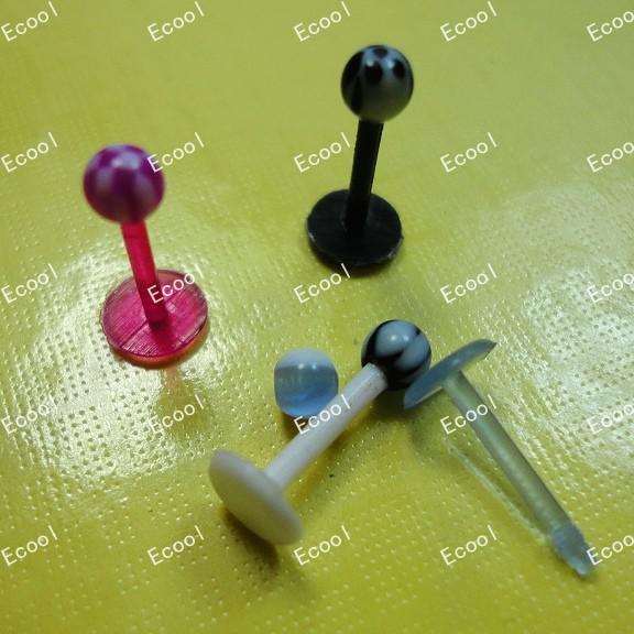 Wholesale Jewelry Bulk UV Flexible Acrylic Tongue Bar Lip Belly Eyebrow Ear Body Piercing Plug LR344