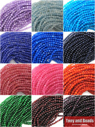 Wholesale Jade Stone Faceted Beads - (95Pcs   Strand=1Lot ! ) Free Shipping Natural Stone 4MM Faceted Colorful Jade Loose Beads Pick Colors For Jewelry Making No.JD7