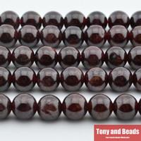 jóias fazendo pedras venda por atacado-Frete Grátis nova Pedra Natural Vermelho Escuro Garnet Rodada Solta Pérolas 16