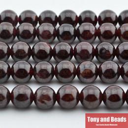 """Toptan satış Ücretsiz Kargo Yeni Doğal Taş Koyu Kırmızı Garnet Yuvarlak Gevşek Boncuk 16 """"Strand 4 6 8 10 12 mm Boyutu Takı Yapımı Için No.Sab15 DIY"""