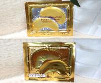 Wholesale Collagen Golden Eye Mask - New Anti-Wrinkle NEW Crystal Collagen Gold Powder Eye Mask Golden Mask stick to dark circles Free Shipping