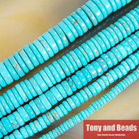 """Wholesale Heishi Beads Wholesale - Free Shipping Howlite Turquoise Heishi Beads 16"""" Strand 4 6 8 10 12MM Pick Size For Jewelry Making No.TB8"""