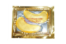 Wholesale Mask Sticks - 2018 New NEW Crystal Collagen Gold Powder Eye Mask Golden Mask stick to dark circles