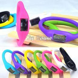 Wholesale Stylish Silicone Jelly Watches - Best Selling Stylish Jelly Bracelet Wristwatch Silicone Rubber Digital Sports Wrist Fashion Watch 3176