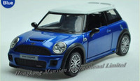 Wholesale Mini Cooper Toy Model Cars - 1:32 Alloy Diecast Car Model For MINI Cooper S JCW Toy Collection Pull Back With Sound&Light - Blue   Red   Black