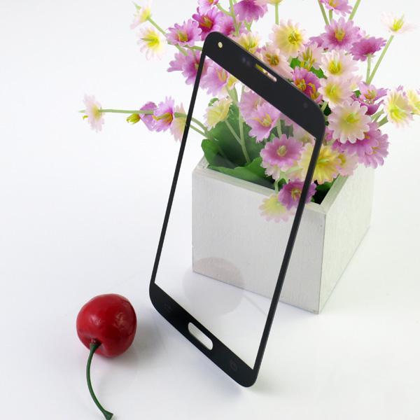 لغالاكسي S5 زجاج الشاشة عدسة لسامسونج غالاكسي S5 I9600 جبهة زجاج الشاشة استبدال الجزء 8 ألوان