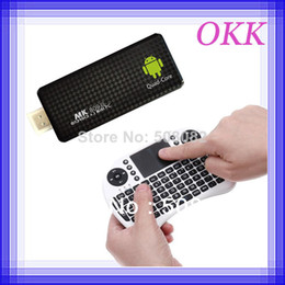 Wholesale Pandora Mouse - Quad Core Android 5.1 Mini PC TV BOX MK809 III RK3229 MK809III TV Stick 2GB RAM 8GB 1.8G + Rii i8 fly air mouse keyboard