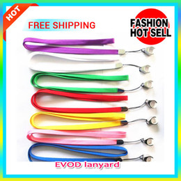 Wholesale Cheap Vapor Batteries Wholesale - Mixed Colors Evod Lanyard Necklace String Neck Chain Sling Clip Ring For Eovd Battery Evod MT3 Electronic Cigarette Kits cheap price vapor