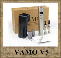 Wholesale Ego Kits Lcd - Vamo V5 Starter Ego Kit LCD Display Variable Voltage Battery CE4 Atomizer Clearomizer e cig electronic cigarette