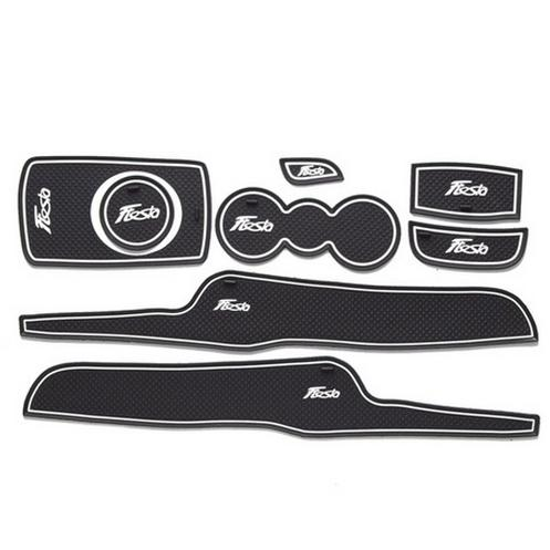 Non- slip Interior door pad/cup mat door gate slot mat for FORD Fiesta 2014 ,8pcs/lot,free shipping, auto accessories