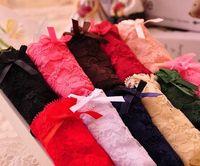 Wholesale Sexy Tranparent - Women's Sexy Lace Panties Very Soft Lace Bowknot Pattern Underwear Tranparent