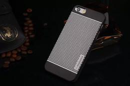 Marca MOTOMO Aleación de aluminio de metal cepillado + Estuche rígido para PC para iPhone 5 5S 6 Fundas de teléfono celular de lujo Protector a prueba de polvo cubierta desde fabricantes