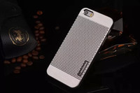 Wholesale Iphone Metal Protector - AAAA MOTOMO Brushed Metal Aluminium Alloy + Hard PC Case For iPhone 5 5S 6 Luxury Cell Phone Cases Protector Dust Proof Cover