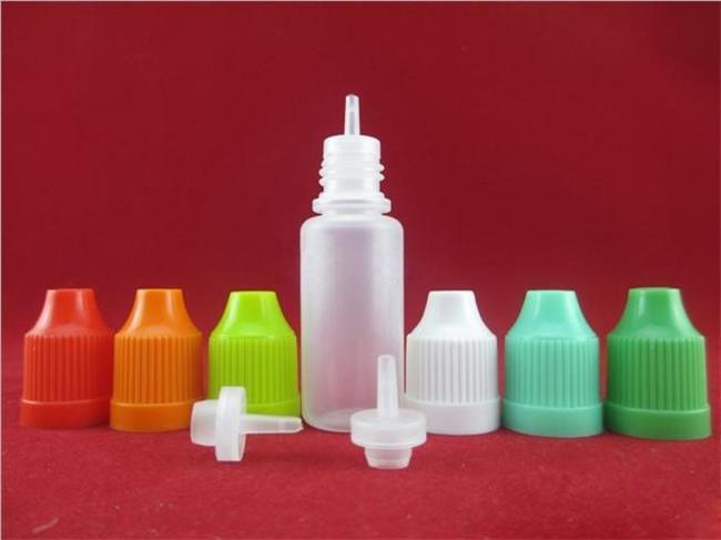 Colorful Needle Bottle 5ml 10ml 15ml 20ml Flacone Soft Dropper con capsula a prova di BAMBINO Negozio più liquido E Vapor Cig Liquid Eye drops