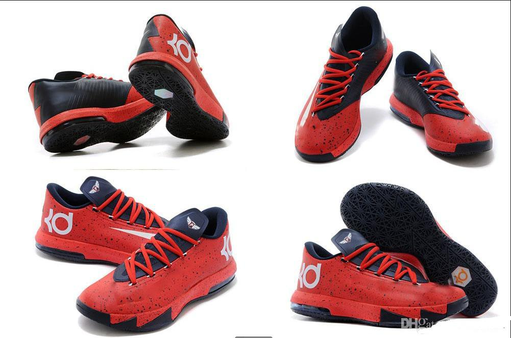 kd 6 high top sneakers red color
