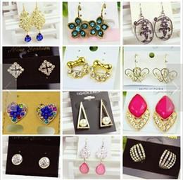 steel earring studs 2019 - Luxury earrings charm Dangle Chandelier Ear Cuff Diamond pendants Earring Back Hoop Huggie Stick Stud modern charms jewe