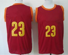 Wholesale Wholesale Cheap White Polyester Shirts - cheap 2015 Basketball Jersey #23 New Rv30 Sleeveness Basketball Shirts Red, Yellow ,white Free Shipping NameMix Order