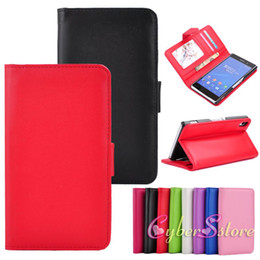 Wholesale Photo Frame Styles - Sony Xperia Z2 Stand Wallet Style Soft PU Leather Case Cover With Credit Card Holder Photo Frame for Sony Xperia Z2 D6503 L50w