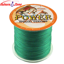 China STRONG 4 Strands POWER Braided Fishing Line 500m Japanese green Multifilament Fishing line 8lb-60 LB Power PE fishing line cheap wire strands suppliers