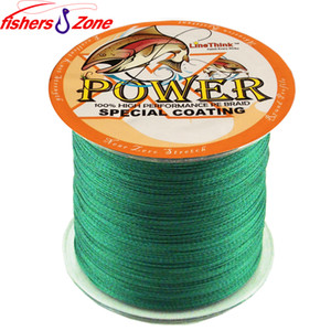 Wholesale STRONG 4 Strands POWER Braided Fishing Line 500m Japanese green Multifilament Fishing line 8lb-60 LB Power PE fishing line