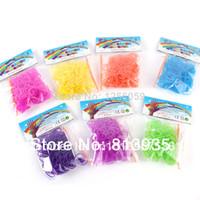 gummibänder für webmaschinen großhandel-Freies Verschiffen heißer Verkauf 2014 New GLITTER GummibaumBänder ( Bänder 300pcs + 13pcs S- Clip + Hook)