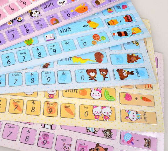 500Pcs/Lot Creative Korean Laptop Button Stickers DIY Computer Alphabet  Keyboard Covers Cartoon Notebook Keyboard Protector Free Shipping