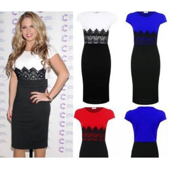 Acquista Fashion Women Bodycon Lace Dress Plus Size Gonna A Maglie Vestito  Longuette Elegante Vestito Da Passerella Elegante Abito Da Sera Sexy Da  Sera ... 48a79355eba