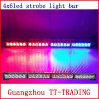 Wholesale Led Flashing Police Strobe Light - Car Strobe Light 24 LED Flash Warning light bar Police Firemen Auto Bumper Light high power bright
