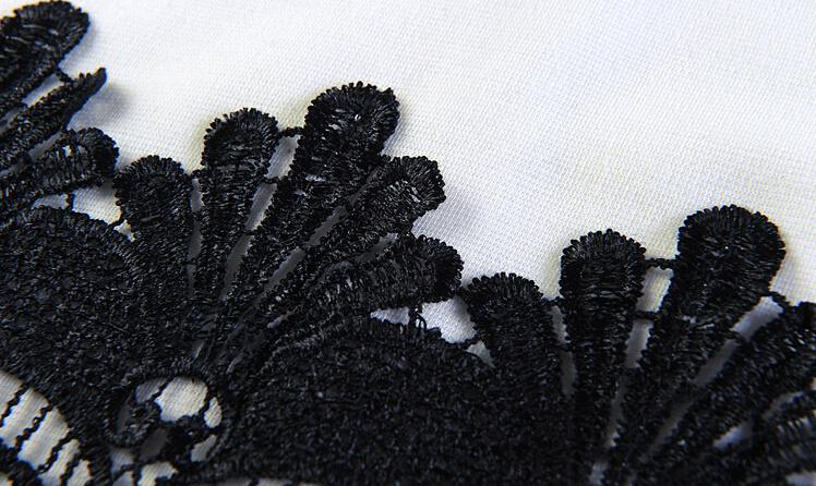 Mode Frauen Bodycon Spitzenkleid Plus Size Damen Bleistiftrock Midi Kleid Elegante Runway Arbeitskleid Neue Sommer Sexy Abendgesellschaft Kleid E18