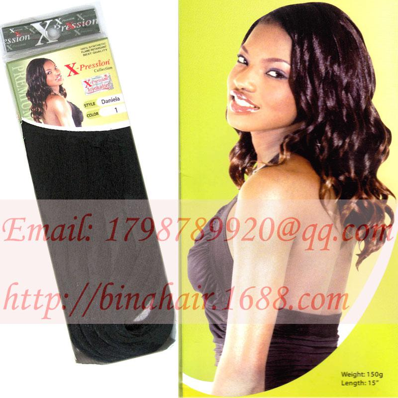 Xpression hair weft synthetic hair extension daniela 150g 15inch see larger image pmusecretfo Images