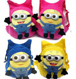 Wholesale Despicable Minion Dave Plush - Brand new Despicable me jorge Dave Stewart minion eyes doll plush Backpack school bag