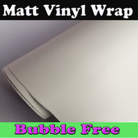 Wholesale Matte Decals - White Matte Vinyl Wrap With Air Bubble Free Matt White Film Vehicle Wrapping Vinyl sheets Decals like 3m quality 1.52x30m Roll Free Shipping