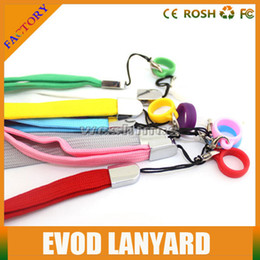 Wholesale Ego Lanyards Colors - Factory Price E Cigarette ego Lanyard Necklace Mix Colors String Soft Rubber Ring ego ce4 Sling For E Cigarette Evod MT3 Kits Battery