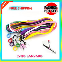 10pcs / lot ecig steam E Cigarette ego Ремешок для ожерелья String Neck Chain Strap Hang Rope Sling Clip Ring для аккумулятора эго батареи evod MT3