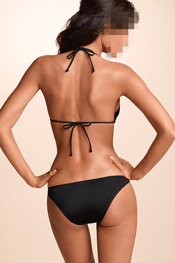 2015 Lady Sexy One-Piece Bathing Suit Black Rosy Push-up Triangle Teddy Swimwear High Quality B4656