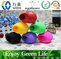 Wholesale Egg Shaped Speaker For Iphone - Christmas colourful Egg horn shape loud-speaker silicone Amplifier stand holder rubber microphone for iphone 4 4S 5 5C 5S 6 Free shipping