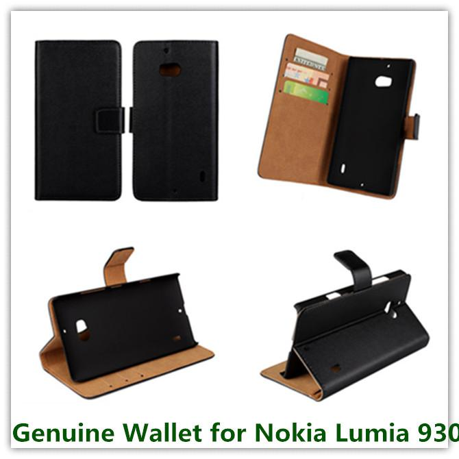 1PCS Luxury Genuine Leather Wallet Pouch Back Cover Case for Nokia Lumia 930 with Magnetic Snap Cellphone Bags Free